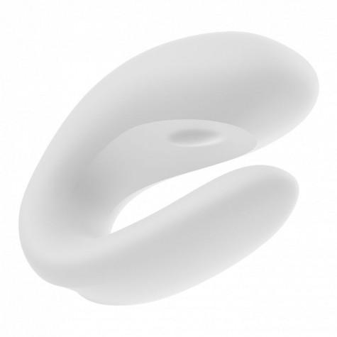 Белый вибратор для пар Double Joy с управлением через приложение